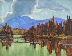 "Dominik Modlinski MOON LAKE (ALASKA) / Canada House Gallery - oil, board 11"" x 14"""
