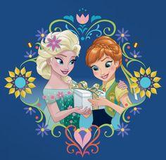 Anna & Elsa en Frozen Fever banner deco by Celebration Factory