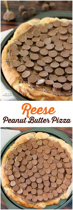 Peanut Butter Pizza - Simply Stacie Reese Peanut Butter Pizza - only three ingredients in this sinfully delicious dessert recipe!Reese Peanut Butter Pizza - only three ingredients in this sinfully delicious dessert recipe! Brownie Desserts, Oreo Dessert, Mini Desserts, Coconut Dessert, Peanut Butter Desserts, Dessert Pizza, Reeses Peanut Butter, Dessert Bars, Chocolate Desserts