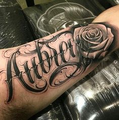 Las 8 Mejores Imágenes De Tatuaje Rosa Con Nombre En 2018 Tatuajes