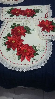 Hand Embroidery Videos, Bathroom Sets, Decoration, My Design, Quilts, Sewing, Holiday Decor, Christmas, Home Decor