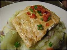 Maple Glazed Salmon with Onion-Mashed Potatoes Recipe From Animators Palette, Disney Cruise Line