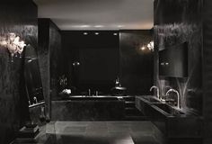 11 Black Luxury And Modern Bathroom Designs That Will Amaze You. Photo Number: 5 – Modern And Luxury Black Bathroom Design ideas Gothic Bathroom, Black Interior Design, Black Room Design, Interior Ideas, Appartement Design, Bathroom Design Luxury, Bathroom Designs, Black Rooms, Home Room Design