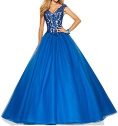 ESY V-Neck Lace and Tulle Backless Prom Dress 2015 Ball Gown Quinceanera Dress Blue US2 ESY http://www.amazon.com/dp/B0158DEEGE/ref=cm_sw_r_pi_dp_ax2Dwb1CWAQRJ