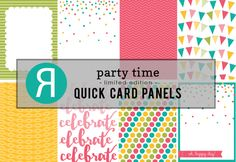 Reverse Confetti Quick Card Panels: Party Time. May 2016 release.