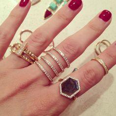 Pave 4 Tier Ring- Rose Gold – Melanie Auld Jewelry