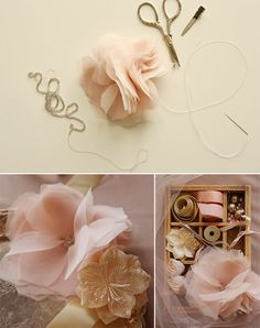 These would be cute flowers to put on a headband or even attach to a bobby pin and wear any day.