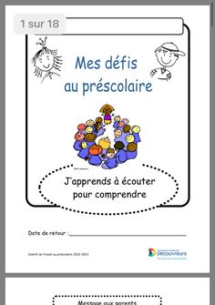 School Organisation, French Songs, Parents, Preschool, Education, Educational Activities, Early Childhood Centre, School Counselor, Reading Games