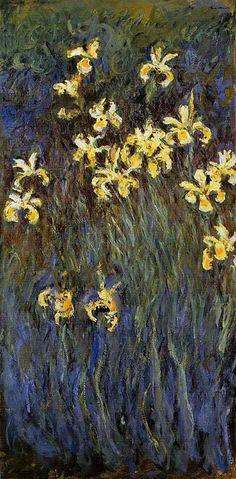 The Yellow Irises, 1917, Claude Monet.