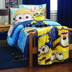 Awesome Ideas To Decorate Your Home With Minions Minion Room Decor, Minion Bedroom, Minion Nursery, Despicable Me Bedroom, Boy Room, Kids Room, Image Minions, Kids Bedroom Designs, Room Themes
