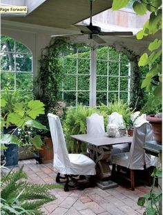 Bunny Williams/ garden room with skylights