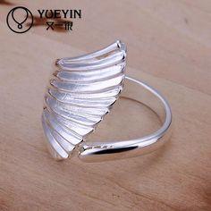 Encontrar Más Anillos Información acerca de R122 mayorista precio de fábrica anillo de plata plateado nuevo diseño del dedo anillos de la joyería, alta calidad anillo de soporte, China anillo de vestuario Proveedores, barato anillo de letras ring ring de Allen's Watch&Jewelry  en Aliexpress.com