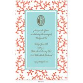 These are the invitations I want for my rehearsal dinner at Isle of Hope Marina Casual Wedding Invitations, Rehearsal Dinner Invitations, Birthday Invitations, Invites, Coral Party, Tropical Party, Coral Blue, Personalized Stationery, Wedding
