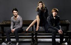 Daniel Radcliffe, Emma Watson and Rupert Grint \\\ Harry Potter Series
