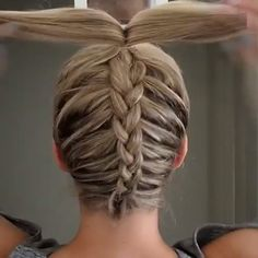 37 Cute French Braid Hairstyles for 2019 - Style My Hairs French Braid Hairstyles, Dance Hairstyles, Box Braids Hairstyles, Cool Hairstyles, Volleyball Hairstyles, Cute Cheer Hairstyles, Gymnastics Hairstyles, Unique Braided Hairstyles, Workout Hairstyles