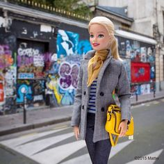Feeling the creative spirit of Serge Gainsbourg just by standing outside his house! A true icon of French style and culture.  #pfw #barbie #barbiestyle