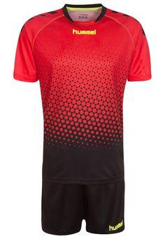 Hummel REBEL TRAINING SET - Teamwear - flame scarlet/black - Zalando.de #HU342D009-G11 #Hummel #null #rot #rot #red #schwarz #black #fußball #handball #laufen #fitness - Handball spielen - Handball spielen