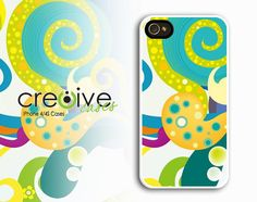 iphone 4 case  Swirls Case for iPhone 4/4s by Cre8iveCases on Etsy, $12.99