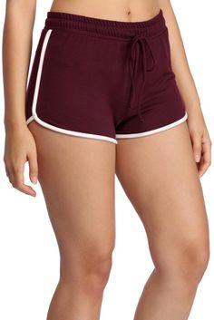 Burgundy Ringer Pajama Shorts | WindsorCloud