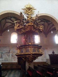 Pulpit in the cathedral of St. Hemma, Gurk