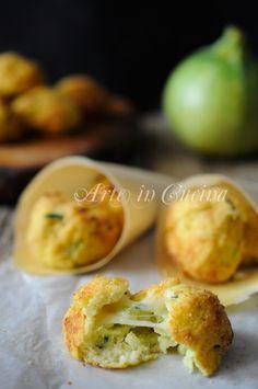 Polpette di patate ricotta e zucchine al forno vickyart arte in cucina