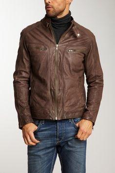 Vintage Leather Moto Jacket..Jack's motercycle jacket...he is still my 10!