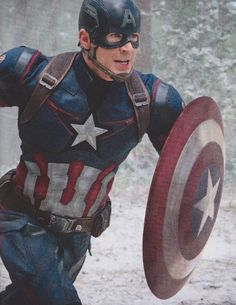 Chris Evans as 'Captain America' in AVENGERS: AGE OF ULTRON