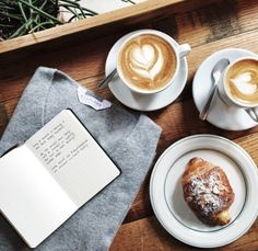 lattes and croissants and journals. But First Coffee, I Love Coffee, Coffee Break, My Coffee, Morning Coffee, Coffee Mornings, Morning Drinks, Coffee Signs, Coffee Creamer