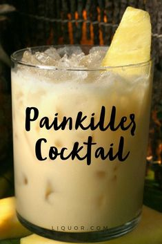 The Painkiller #cocktail is another #fruity and #tropical twist on the #PinaColada. Combine #rum, fruit juices, and coconut for the ultimate #summer #beverage.
