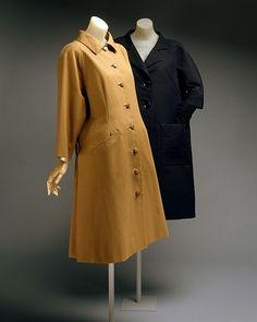 Coat  Design House:House of Balenciaga (French, founded 1937) Designer:Cristobal Balenciaga (Spanish, Guetaria, San Sebastian 1895–1972 Javea) Date:spring/summer 1962 Culture:French Medium:cotton