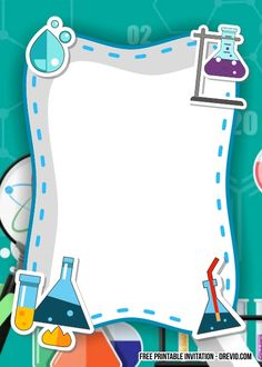 Nice FREE Science Party Birthday Invitation Templates #free #freeinvitation2019 #birthday #disney #invitations #invitationtemplates Minecraft Birthday Invitations, Free Birthday Invitation Templates, Disney Invitations, Science Lab Decorations, School Decorations, Funny Iphone Wallpaper, Apple Wallpaper, Chemistry Posters, Baby Food Jar Crafts