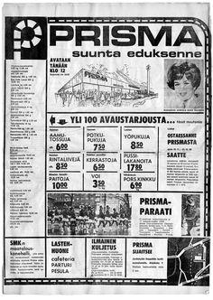 Seppälän Prisman avausilmoitus Keskisuomalaisessa 22.11.1972