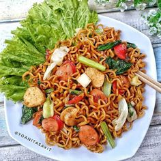 Mie Goreng, Nasi Goreng, Noodle Recipes, Tea Recipes, Cooking Recipes, Yummy Noodles, Recipe Details, Indonesian Food, Bubble Tea