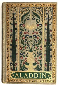 Rare Aladdin Play Script in Danish Antique Highly Decorative Gilt Binding 1884