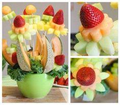 Melones y fresas