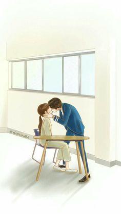 W- Two worlds Cute Couple Cartoon, Cute Couple Art, Anime Love Couple, Cute Anime Couples, W Two Worlds Wallpaper, World Wallpaper, Cartoon Wallpaper, W Two Worlds Art, Cute Couple Wallpaper