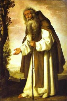 """St. Anthony Dispirited"", 1640, by Francisco de Zurbarán (Spanish, 1598-1664)."