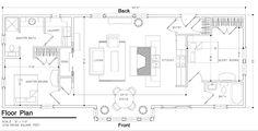 Cottage Style House Plan - 2 Beds 2 Baths 1078 Sq/Ft Plan #547-2 Main Floor Plan - Houseplans.com