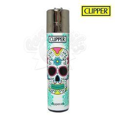 Briquet Clipper © Tête de mort Mexicaine (Vert)