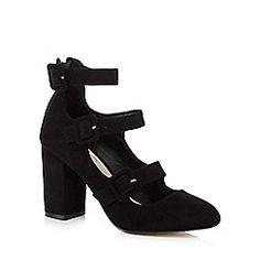 Nine by Savannah Miller - Black 'Sinead' buckle strap high court shoes