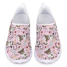 3D CARTOON PRINTED NURSE SHOES   FREE Shipping worldwide   - Dean Mary Nurse Shoes, 3d Cartoon, Comfy Shoes, Slip On Shoes, Snug Fit, Dean, 3 D, Slippers, Mary