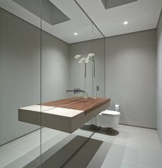 badkamer, Houten Panelen Badkamer Wonderwall Studios Maakt ...