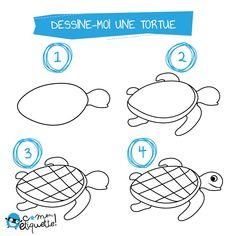 Des gabarits de dessins de la mer à télécharger gratuitement : tortue, crabe, étoile de mer, méduse, poisson... D'autres coloriages à découvrir sur le blog.