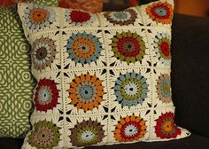 Crochet Squares Granny Design Ravelry: Project Gallery for Sunburst Granny Squares pattern by Priscilla Hewitt - Crochet Granny Square Afghan, Crochet Squares, Crochet Motif, Crochet Designs, Granny Squares, Granny Granny, Ravelry Crochet, Crochet Blocks, Square Blanket
