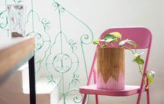 Vaso (cachepot) feito com lata de tinta e jogo americano da loja de R$1,99 - DIY - Decoração com objetos de R$1,99 - Dollar store decor ideas