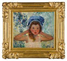 Fille de l'artiste au bonnet bleu | Impressionist & Modern Art2021 | Sotheby's Impressionist Art, Online Images, Oil On Canvas, Modern Art, Im Not Perfect, Painting, Daughter, Artist, Modern