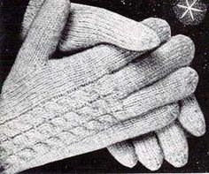 Free Knitting Pattern - Adult Gloves & Mittens: Men's & Women's Cable Gloves