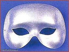 Costumes! Silver La Mancha Fabric Domino Eye Mask  #DM