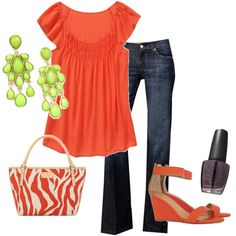 Not a huge fan of the random green earrings or the shoes, but this makes me want summer!