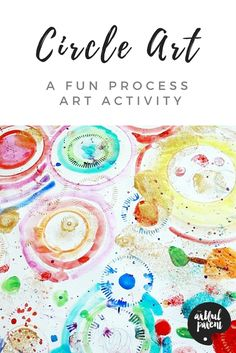 This circle art activity is a great open ended art activity for kids with new tools, materials, and techniques added as interest demands.